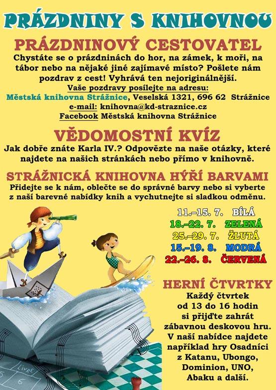Prázdniny s knihovnou - 1. 7. - 31. 8. 2016