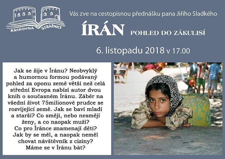 Írán pohled do zákulisí, 6. 11. 2018 v 17.00