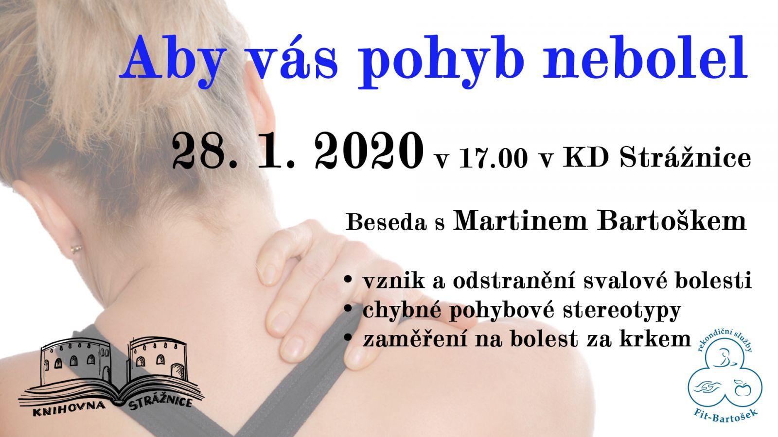 Aby vás pohyb nebolel 28. 1. 2020 v 17.00