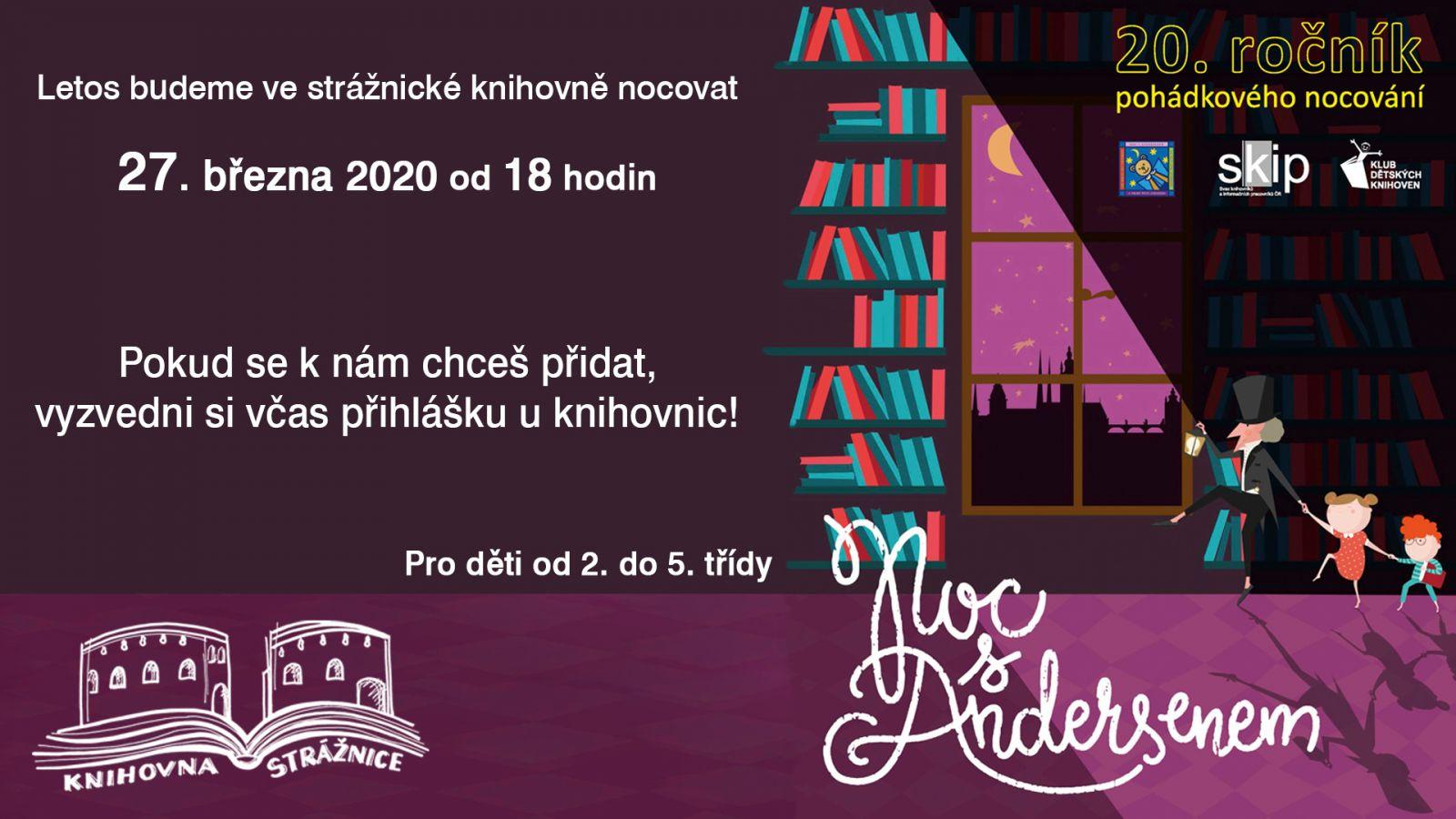 Noc s Andersenem 2020 ve strážnické knihovně